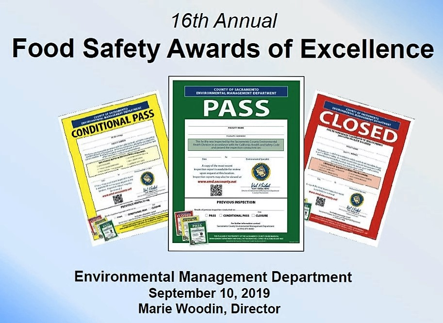 Food safety recognized