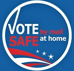 vote safe at home logo